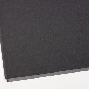 コットン&ポリエステル×無地(ブラック&オフホワイト)×シャンブレーチノクロス_全5色 サムネイル2