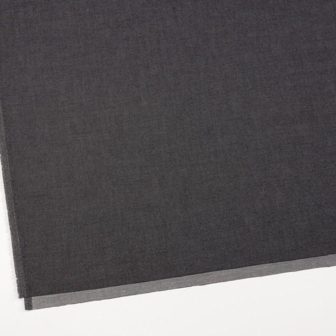 コットン&ポリエステル×無地(ブラック&オフホワイト)×シャンブレーチノクロス_全5色 イメージ2