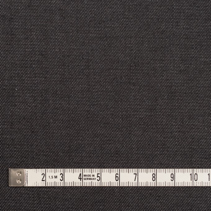 コットン&ポリエステル×無地(ブラック&オフホワイト)×シャンブレーチノクロス_全5色 イメージ4