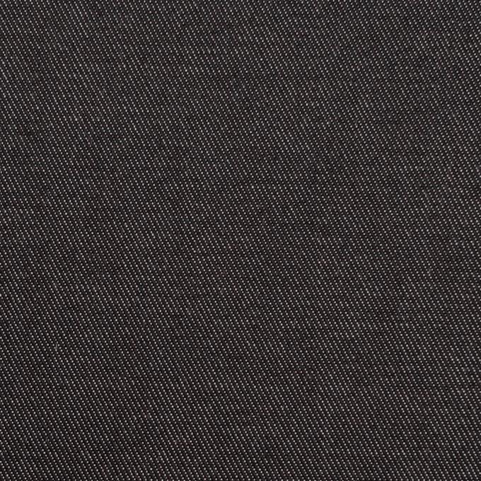コットン&ポリエステル×無地(ブラック&オフホワイト)×シャンブレーチノクロス_全5色 イメージ1