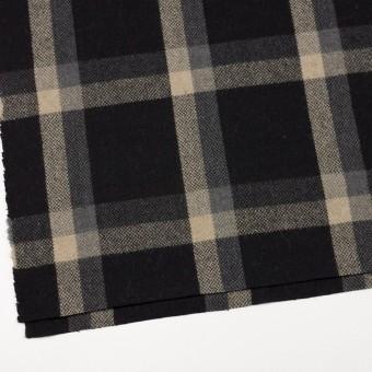 ウール×チェック(ブラック、キナリ&グレー)×ツイード_全2色 サムネイル2