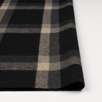 ウール×チェック(ブラック、キナリ&グレー)×ツイード_全2色 サムネイル3