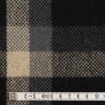 ウール×チェック(ブラック、キナリ&グレー)×ツイード_全2色 サムネイル4