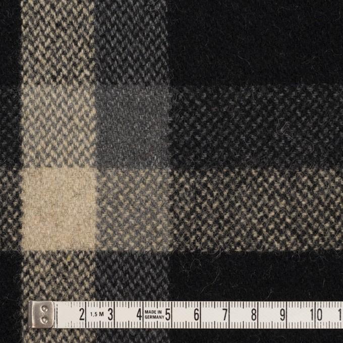 ウール×チェック(ブラック、キナリ&グレー)×ツイード_全2色 イメージ4