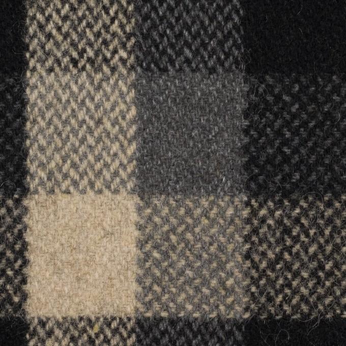 ウール×チェック(ブラック、キナリ&グレー)×ツイード_全2色 イメージ1