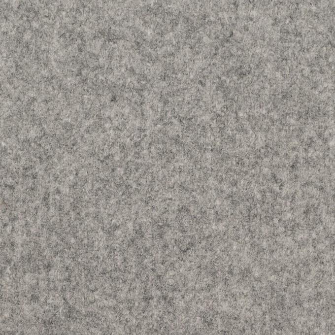 ウール×無地(ライトグレー)×フラノ(フランネル) イメージ1
