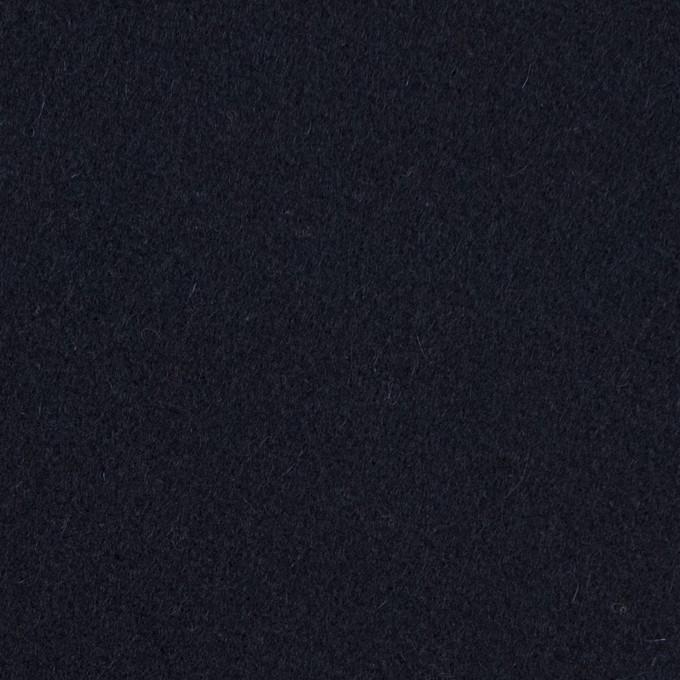 ウール×無地(ダークネイビー)×フラノ(フランネル) イメージ1