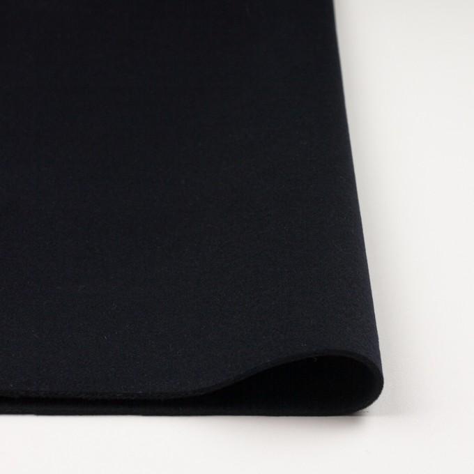 ウール&カシミア×無地(ダークネイビー)×メルトン イメージ3