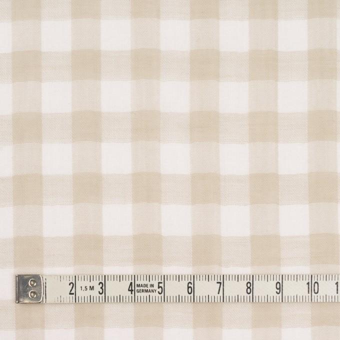 コットン×チェック(ベージュ)×Wガーゼ_全5色 イメージ4