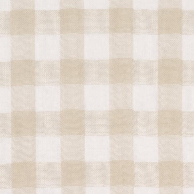 コットン×チェック(ベージュ)×Wガーゼ_全5色 イメージ1