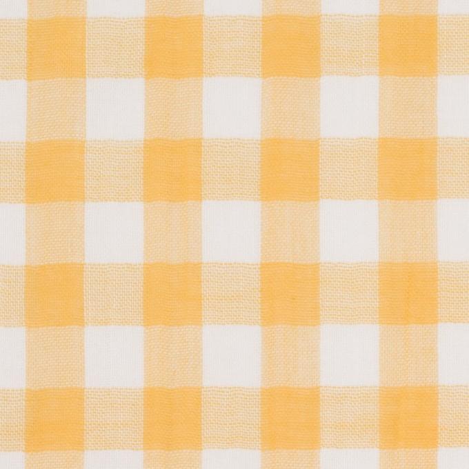 コットン×チェック(イエロー)×Wガーゼ_全5色 イメージ1