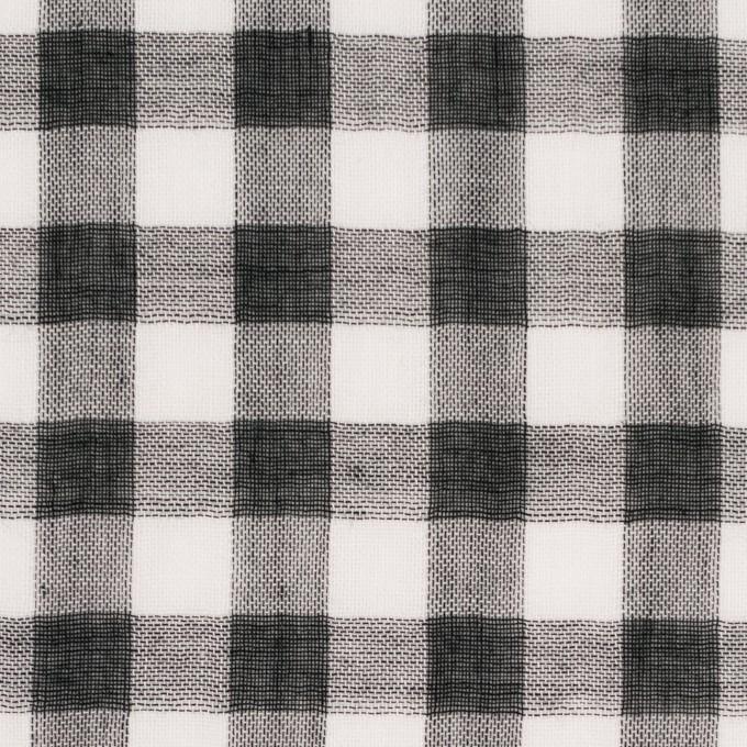 コットン×チェック(ブラック)×Wガーゼ_全5色 イメージ1