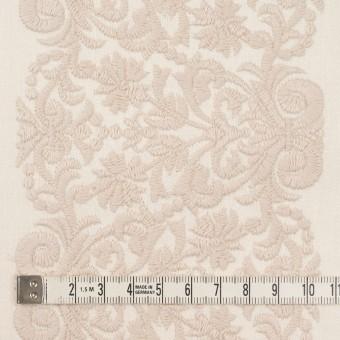 コットン×幾何学模様(クリーム&ウォームベージュ)×かわり織刺繍_全3色 サムネイル4