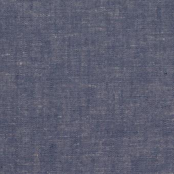 コットン&テンセル混×無地(ネイビー)×薄ダンガリー_全4色 サムネイル1