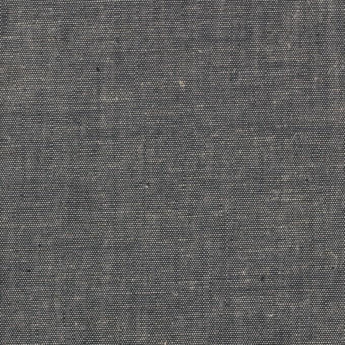 コットン&テンセル混×無地(チャコール)×薄ダンガリー_全4色 イメージ1