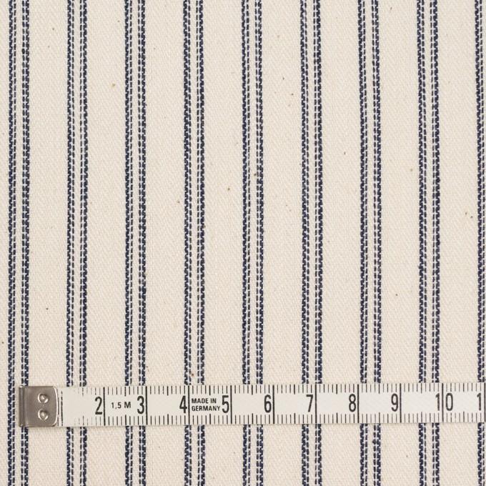コットン×ストライプ(キナリ&ネイビー)×ジャガード イメージ4