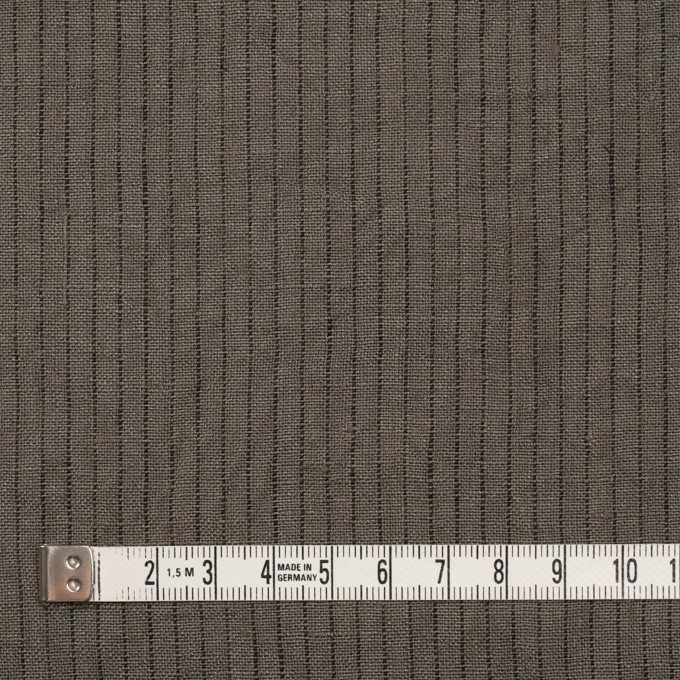リネン×ストライプ(アッシュカーキ)×薄キャンバス イメージ4