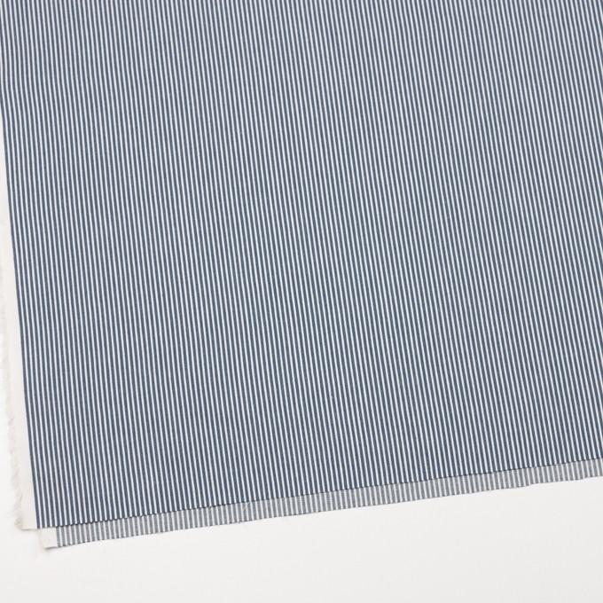 コットン×ストライプ(サックスグレー)×薄デニムヒッコリー イメージ2