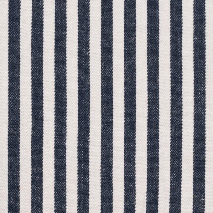 コットン×ストライプ(インディゴ)×薄デニムヒッコリー イメージ1