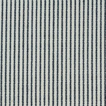 コットン&ポリエステル混×ストライプ(インディゴ)×かわり織