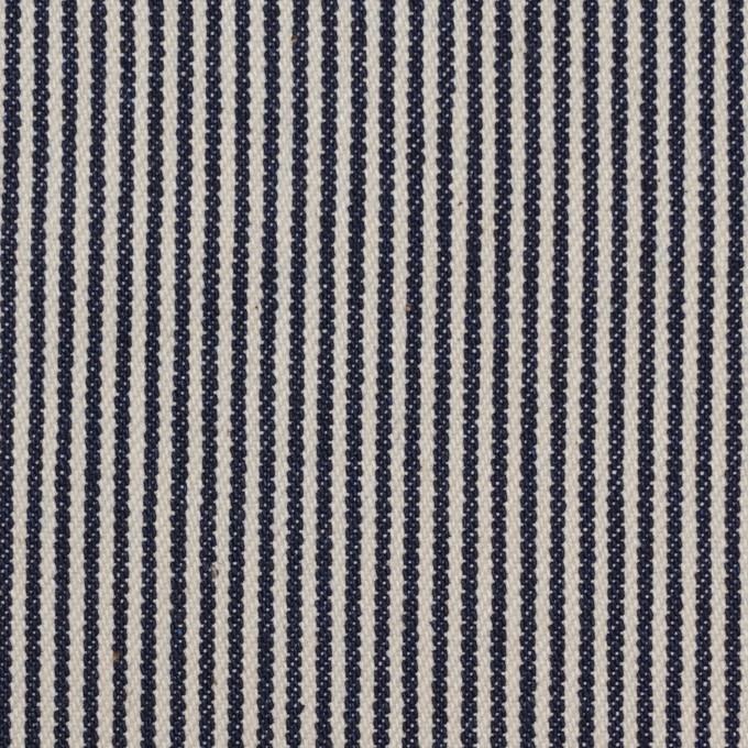 コットン×ストライプ(インディゴ&キナリ)×デニムヒッコリー イメージ1