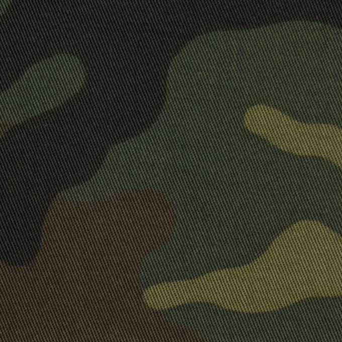コットン&ポリウレタン×迷彩(カーキミックス)×チノクロス・ストレッチ イメージ1