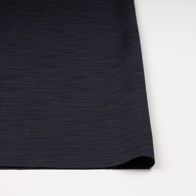 トリアセテート&レーヨン×無地(ダークネイビー)×シャンタン イメージ3