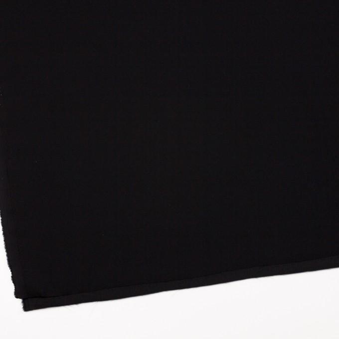 ポリエステル&トリアセテート×無地(ブラック)×バックサテンジョーゼット イメージ2