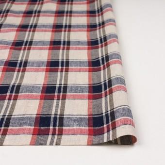 リネン&コットン×チェック(アッシュルビー)×薄サージ_全3色 サムネイル3