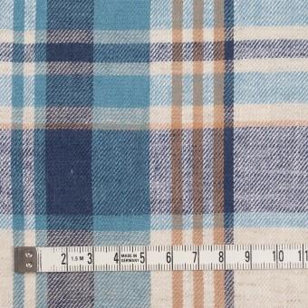 リネン&コットン×チェック(ネイビー&サックス)×薄サージ_全3色 サムネイル4