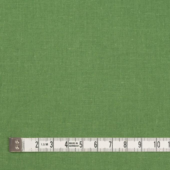 リネン&コットン×無地(リーフグリーン)×シーチング_全36色 イメージ4
