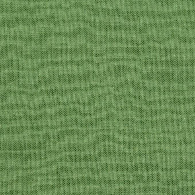 リネン&コットン×無地(リーフグリーン)×シーチング_全36色 イメージ1