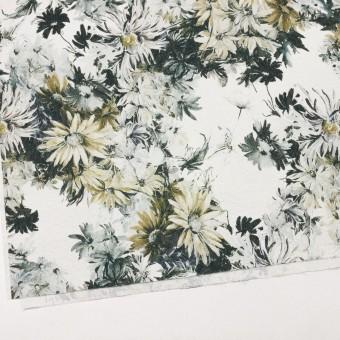 コットン&ナイロン×フラワー(イエローゴールド)×ジャガード_全2色_イタリア製 サムネイル2