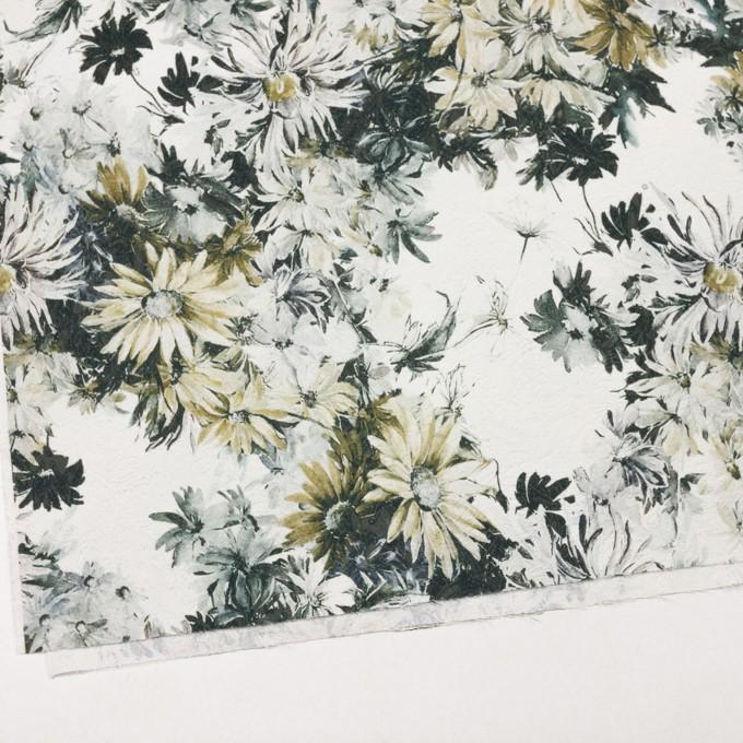 コットン&ナイロン×フラワー(イエローゴールド)×ジャガード_全2色_イタリア製 イメージ2