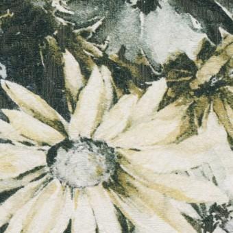 コットン&ナイロン×フラワー(イエローゴールド)×ジャガード_全2色_イタリア製 サムネイル1