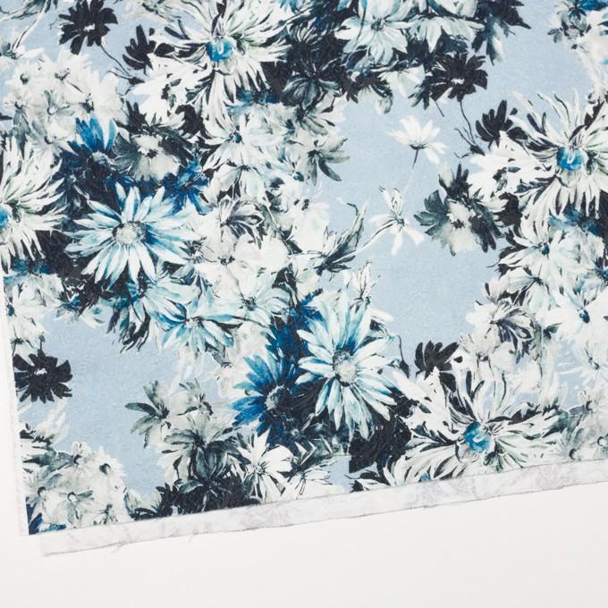 コットン&ナイロン×フラワー(サックスブルー)×ジャガード_全2色_イタリア製 イメージ2
