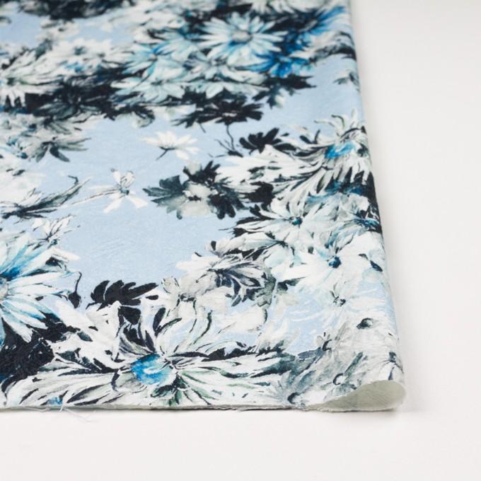 コットン&ナイロン×フラワー(サックスブルー)×ジャガード_全2色_イタリア製 イメージ3