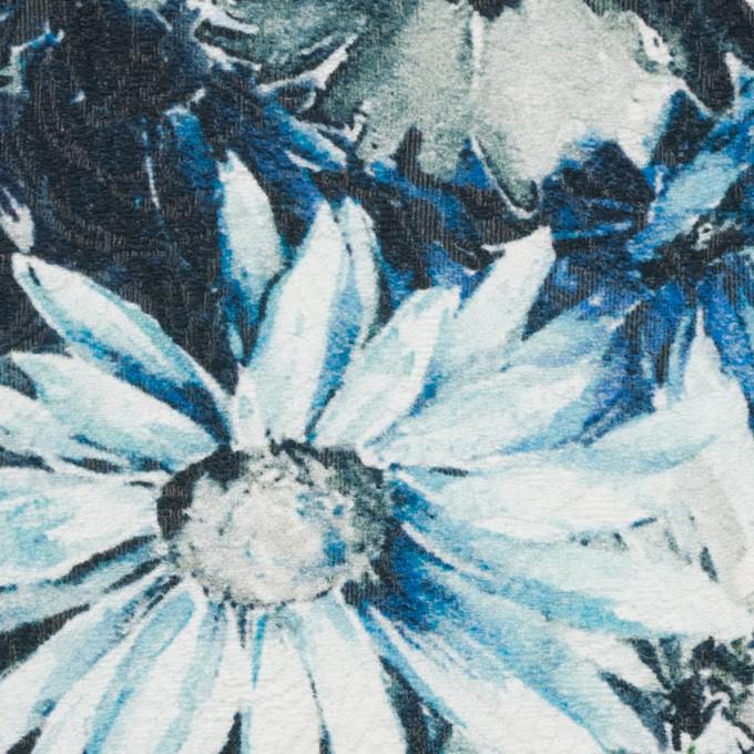 コットン&ナイロン×フラワー(サックスブルー)×ジャガード_全2色_イタリア製 イメージ1