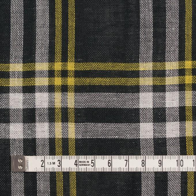 コットン×チェック(ブラック、イエロー&ホワイト)×Wガーゼ イメージ4