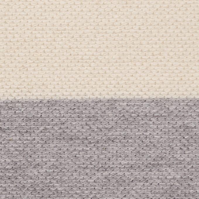 コットン×ボーダー(グレー&キナリ)×かわり編み イメージ1