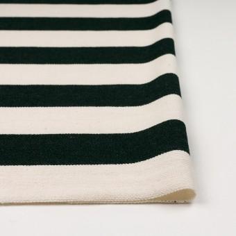 コットン×ボーダー(ブラック&キナリ)×かわり編み サムネイル3