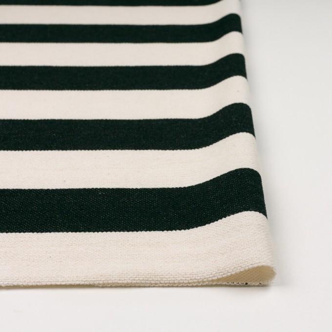 コットン×ボーダー(ブラック&キナリ)×かわり編み イメージ3