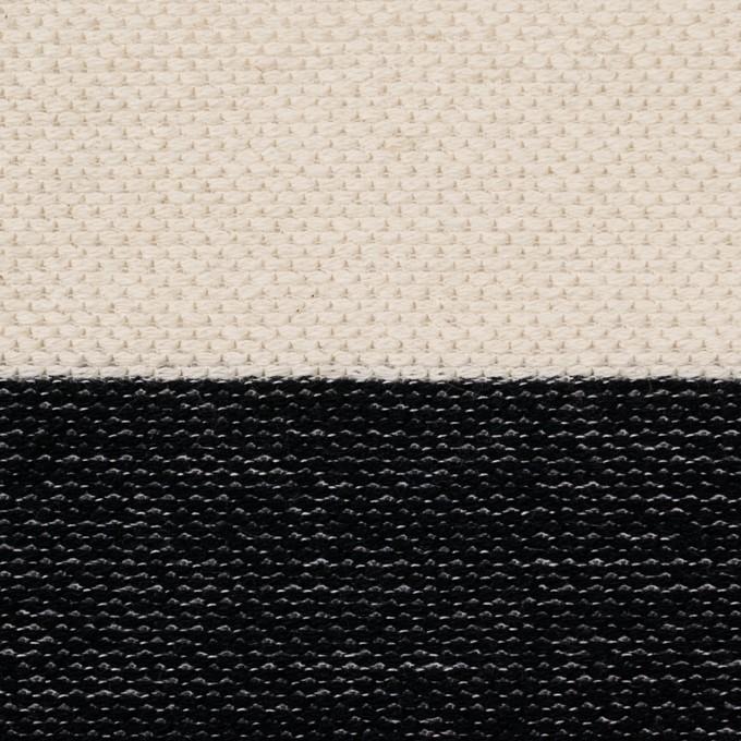 コットン×ボーダー(ブラック&キナリ)×かわり編み イメージ1