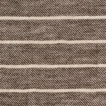 リネン&コットン×ボーダー(ブラウン)×サージ_全2色 サムネイル1