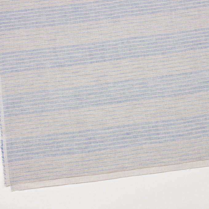 コットン&リネン×ボーダー(サックスグレー)×Wガーゼ イメージ2