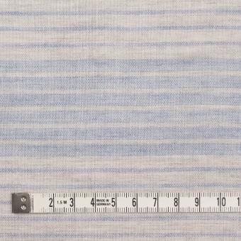コットン&リネン×ボーダー(サックスグレー)×Wガーゼ サムネイル4