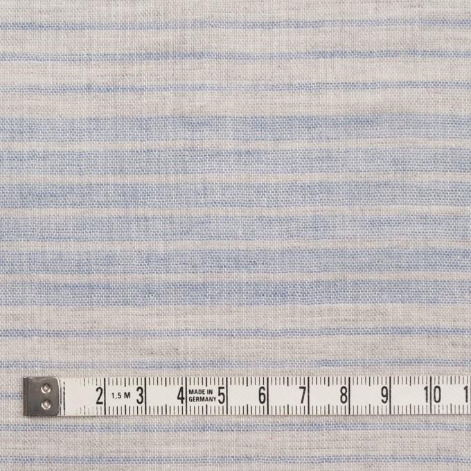 コットン&リネン×ボーダー(サックスグレー)×Wガーゼ イメージ4