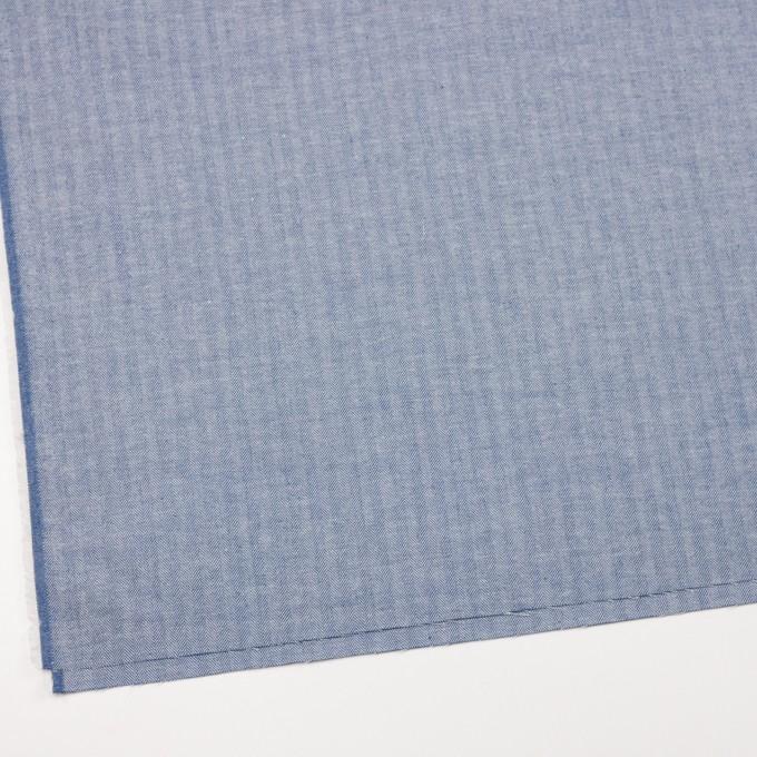コットン×無地(ブルー)×ヘリンボーン イメージ2
