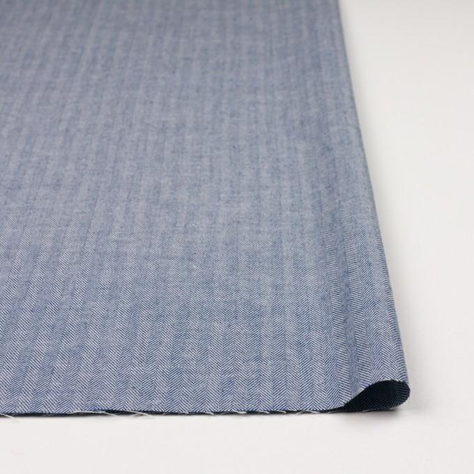 コットン×無地(ブルー)×ヘリンボーン イメージ3
