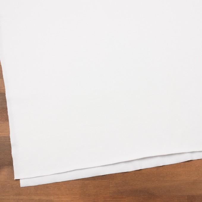 コットン&ポリエステル×無地(ホワイト)×裏毛ニット イメージ2